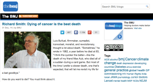 Richard Smith: Dying of cancer is the best death